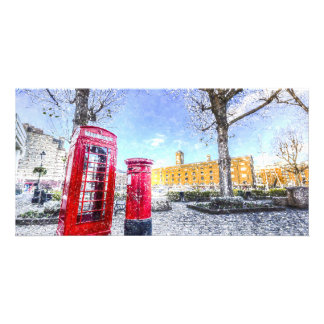 St Katherines Dock London Art Photo Card Template