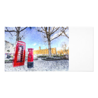 St Katherines Dock London Art Picture Card
