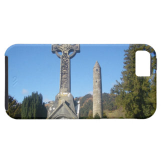 St Kevin's Cross and Round Tower Glendalough iPhone 5 Case