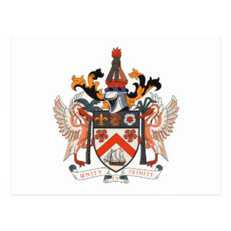 St. Kitts and Nevis Coat of Arms Postcard