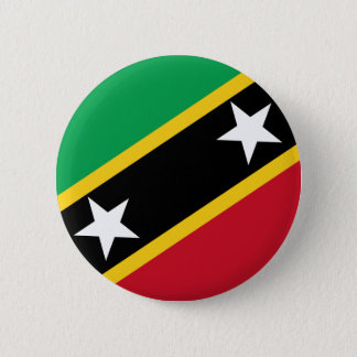 St Kitts and Nevis Flag 2 Inch Round Button
