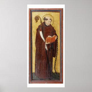 St. Leonard (oil on gold ground panel) (pair of 12 Print