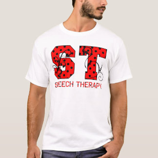 st letters red and black polka dots T-Shirt