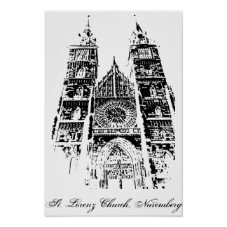 St. Lorenz Church, Nuremberg Poster