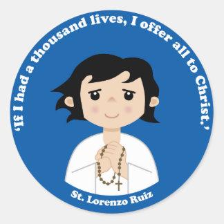 St. Lorenzo Ruiz Round Sticker