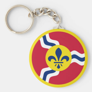 St. Louis Aero Force Roundel Basic Round Button Keychain