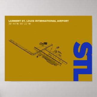 St. Louis Airport (STL) Diagram Poster