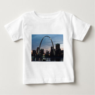 St Louis Arch Skyline Baby T-Shirt