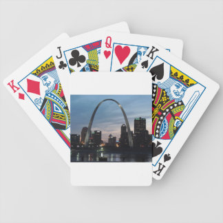 St Louis Arch Skyline Bicycle Playing Cards