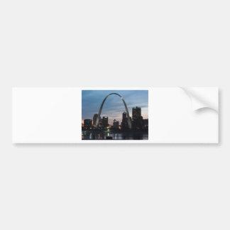 St Louis Arch Skyline Bumper Sticker