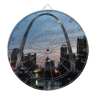 St Louis Arch Skyline Dartboard