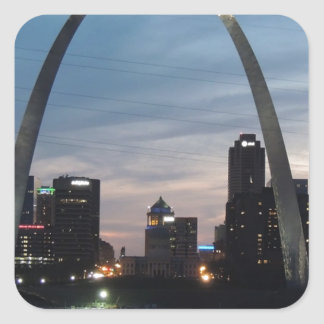 St Louis Arch Skyline Square Sticker