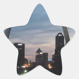 St Louis Arch Skyline Star Sticker