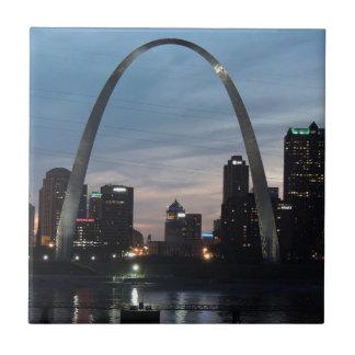 St Louis Arch Skyline Tile
