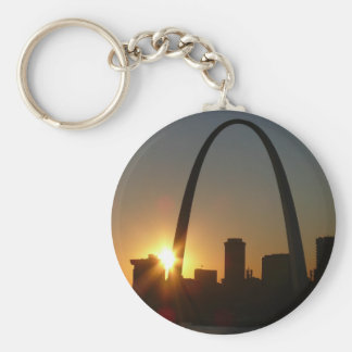 St. Louis Arch Sunset Keychain
