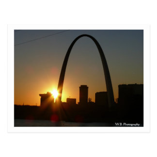 St. Louis Arch Sunset Postcard
