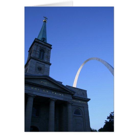 St. Louis Arch w/ Church Card