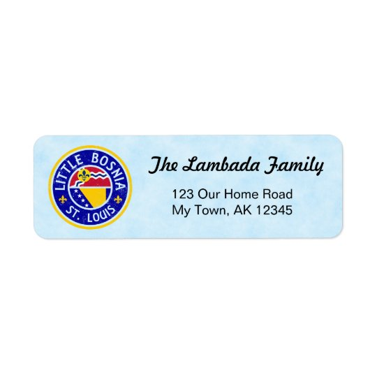 St Louis Bosnian American Address Labels