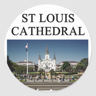 ST LOUIS CATHEDRAL new orleans Classic Round Sticker