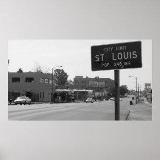 St. Louis City Limits on Natural Bridge Road Poster
