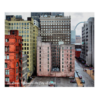 St. Louis cityscape City of Color by Christy Marti Poster