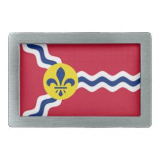 ST Louis Flag Belt Buckles