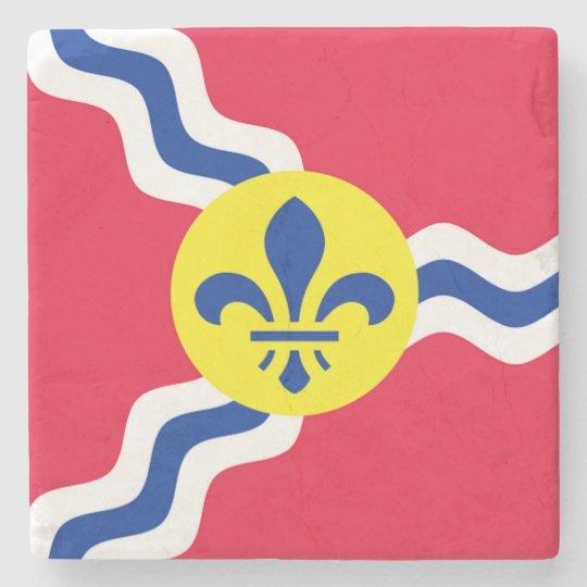 St. Louis, Flag, Saint Louis Marble Coasters Stone Coaster