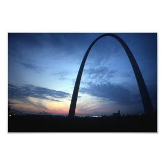 St. Louis' Gateway Arch Missouri Retro 1974 Photographic Print