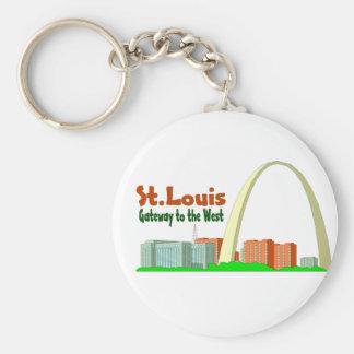 St Louis Gateway to the West Keychain
