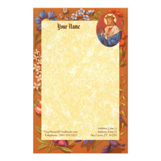 """St. Louis IX the King (PM 05) 5.5""""x8.5"""" Stationery Paper"""