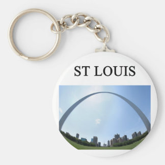 ST LOUIS missouri arch Basic Round Button Keychain