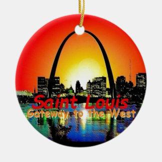 St. Louis Missouri Ceramic Ornament