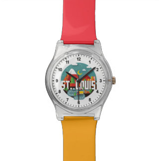 St. Louis, Missouri Geometric Design Wristwatches