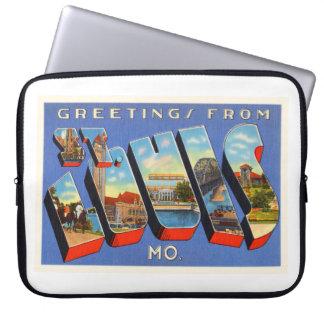 St Louis Missouri MO Old Vintage Travel Souvenir Computer Sleeve