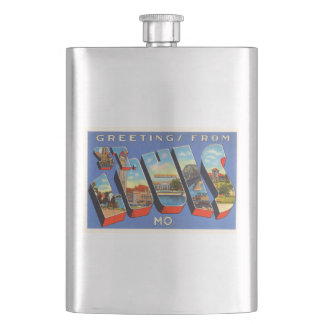 St Louis Missouri MO Old Vintage Travel Souvenir Hip Flask