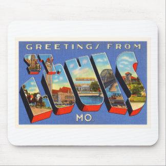 St Louis Missouri MO Old Vintage Travel Souvenir Mouse Pad