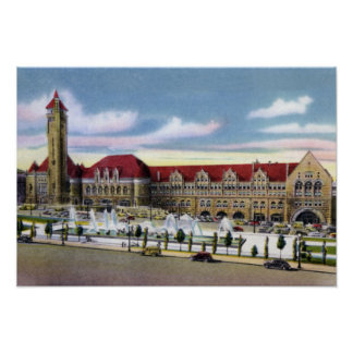 St. Louis Missouri Union Station and Fountains Poster