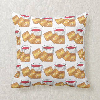 St. Louis MO Missouri Toasted Fried Ravioli Food Throw Pillow