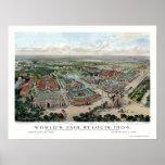 St. Louis, MO World's Fair Panoramic Map - 1904 Poster