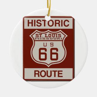 St Louis Route 66 Ceramic Ornament