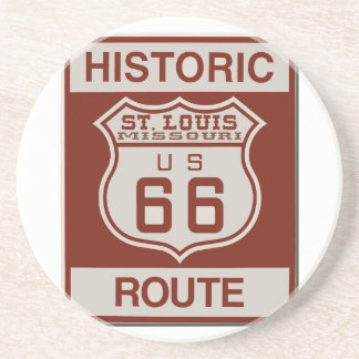 St Louis Route 66 Drink Coaster
