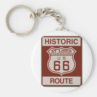 St Louis Route 66 Keychain