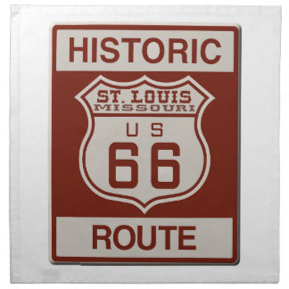 St Louis Route 66 Napkin
