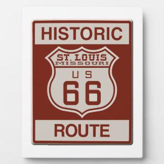 St Louis Route 66 Plaque