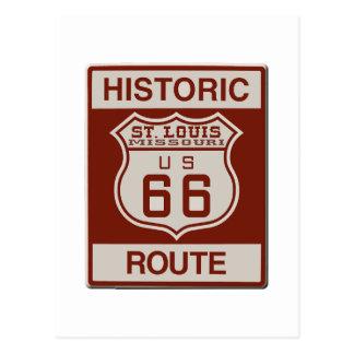 St Louis Route 66 Postcard