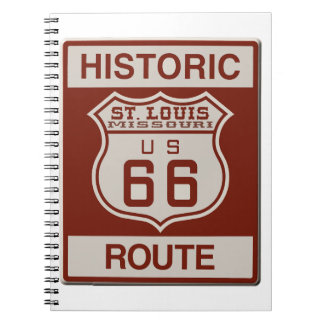 St Louis Route 66 Spiral Notebook