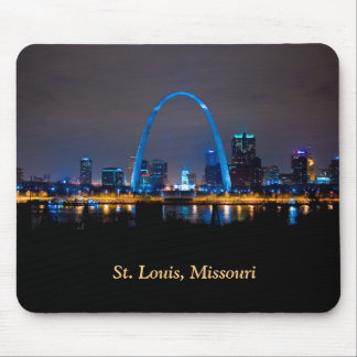 St. Louis Skyline at Night Mouse Pad