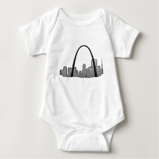St Louis Skyline Drawing Baby Bodysuit