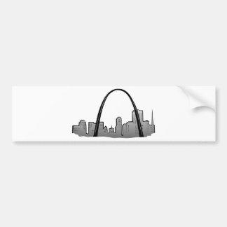 St Louis Skyline Drawing Bumper Sticker