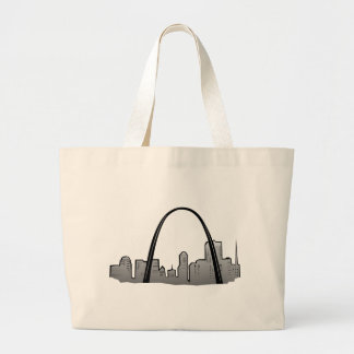 St Louis Skyline Drawing Large Tote Bag
